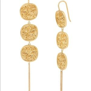 ALLSAINTS Gold Tone Coin Earrings and Bracelet